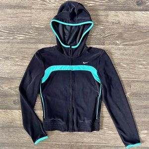 Nike Jacket size small- Black and Teal